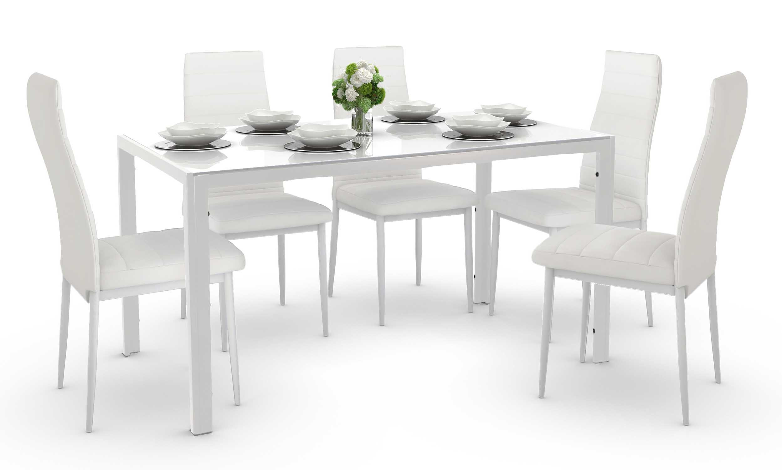Trempe Dining Set White A 1 4 Furniture Home Décor Fortytwo