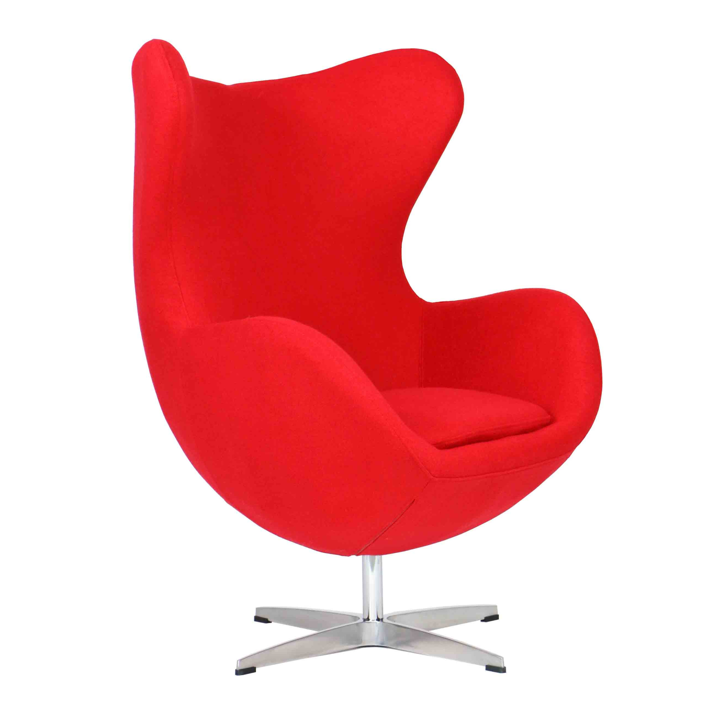 designer replica egg chair in red furniture home d cor. Black Bedroom Furniture Sets. Home Design Ideas