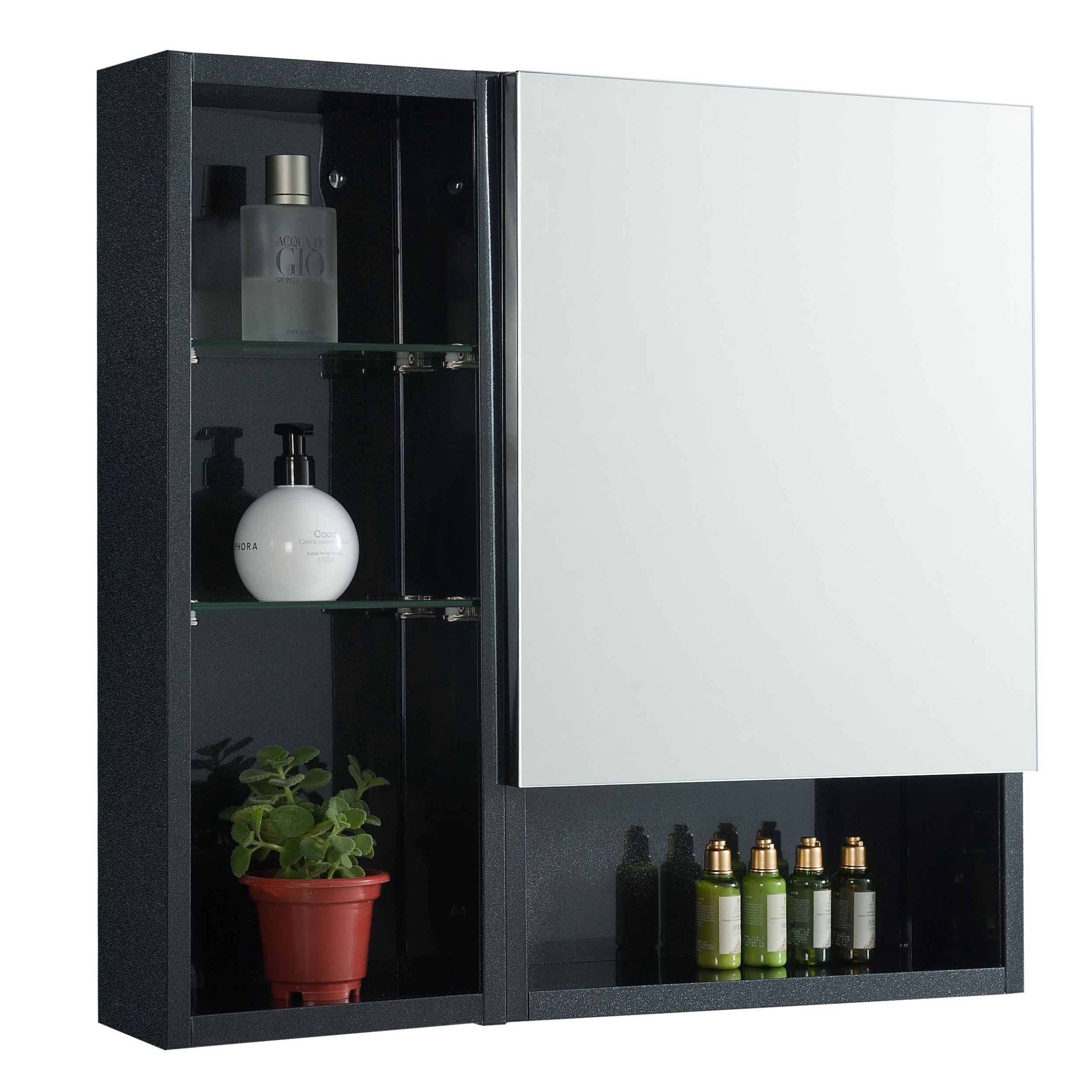 Rubine Bathroom Cabinet - RMC-1440D1S1 Pearl Black | Furniture & Home Décor | FortyTwo