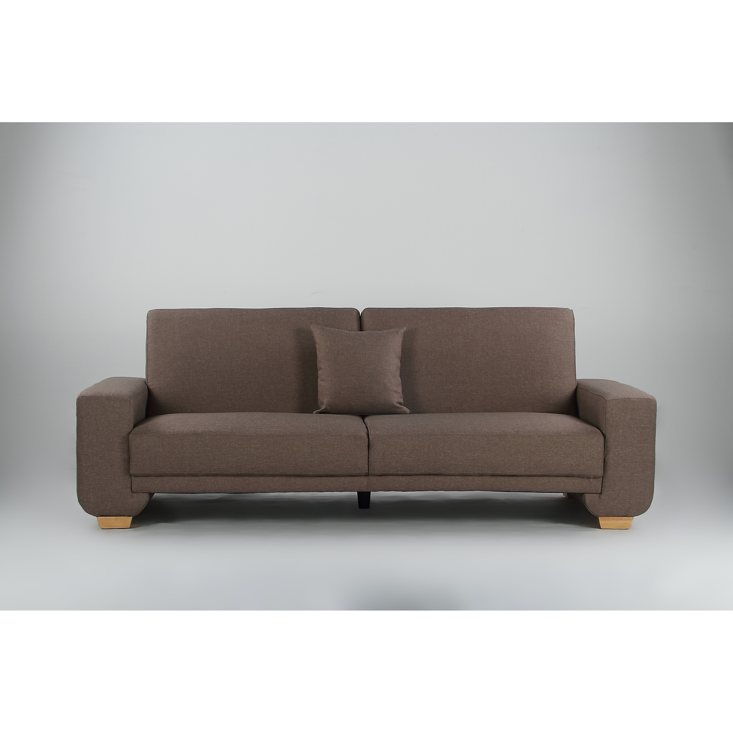 Cozy 3 seater brown sofa bed furniture home d cor for Sofa bed 4 6