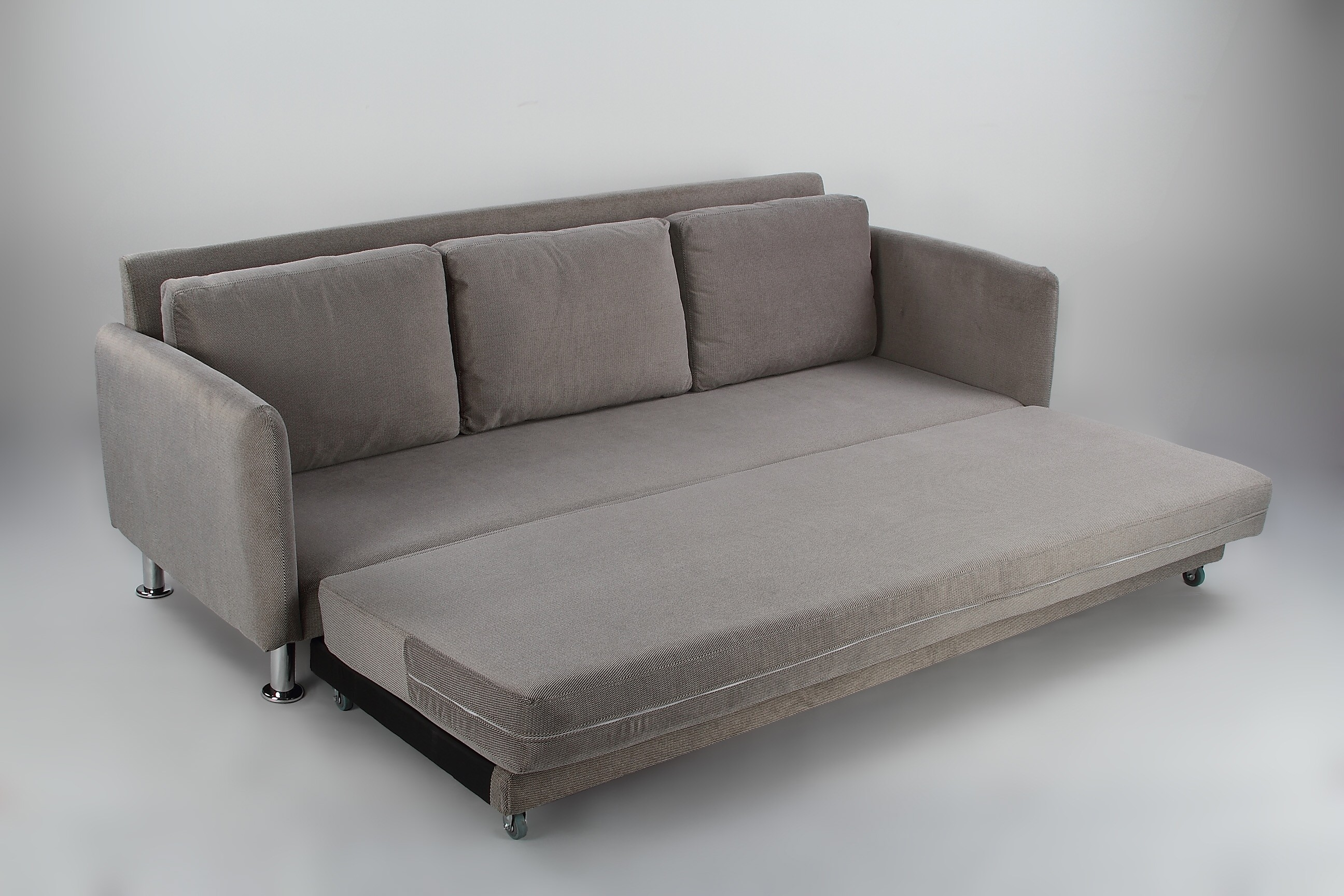 cozy 3 seater grey pull out sofa bed furniture   home