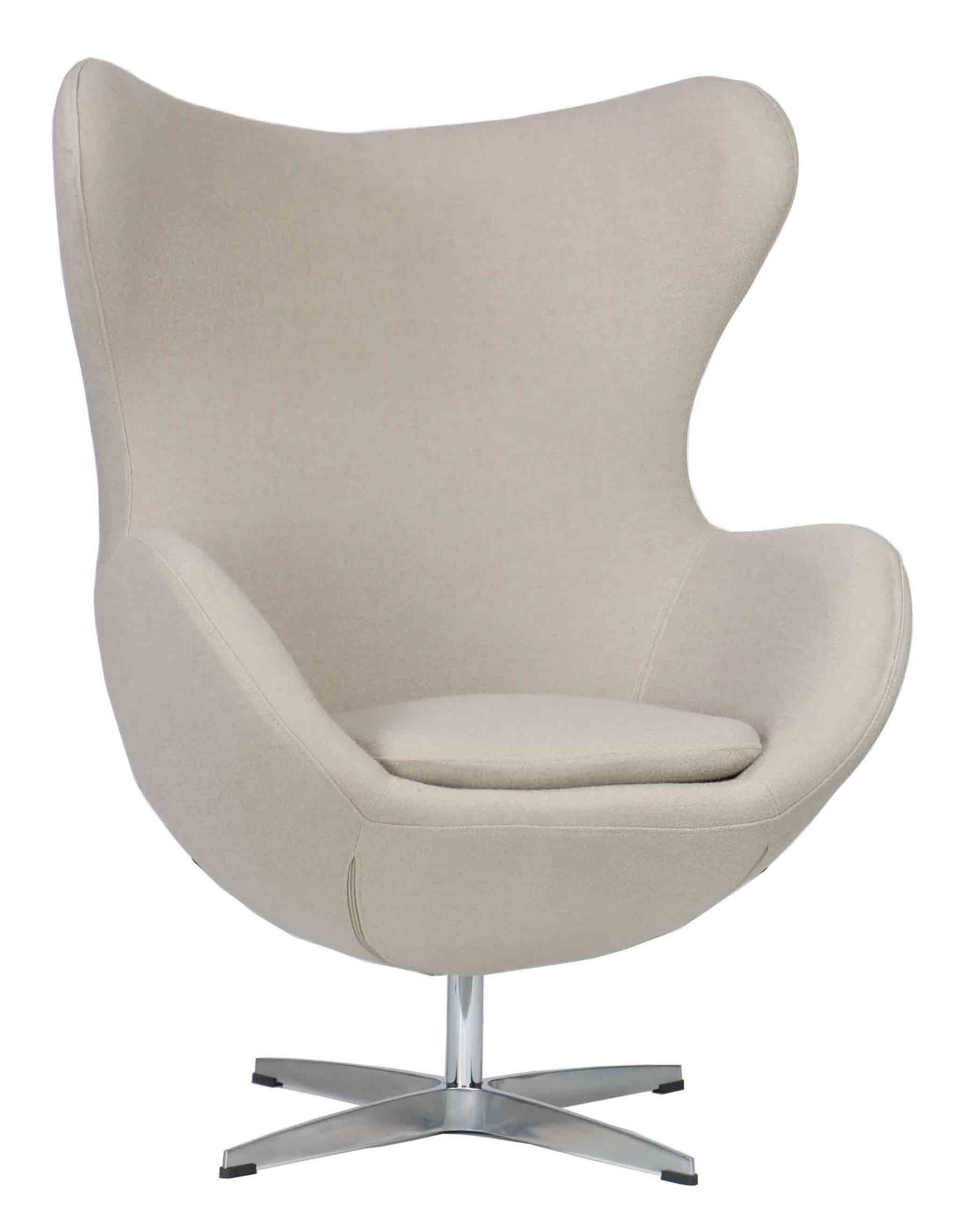 Designer replica egg chair in cream furniture home for Imitation designer chairs