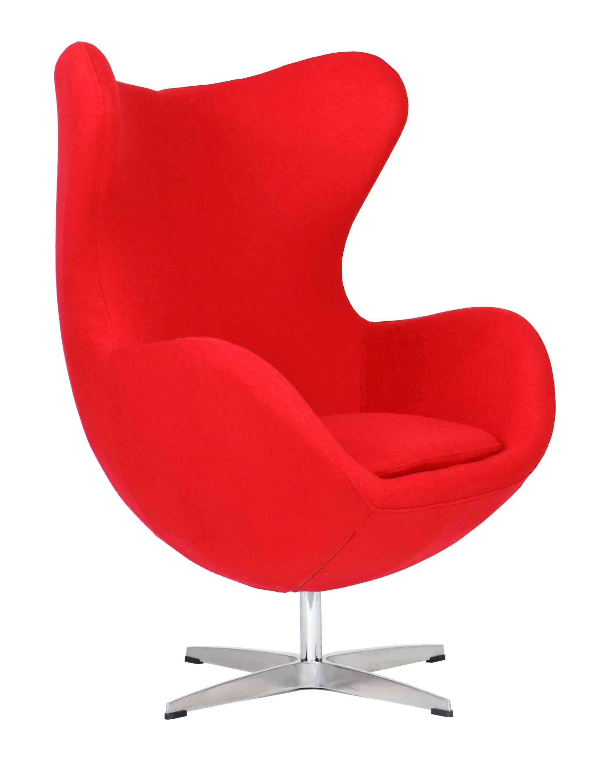 designer replica egg chair in red furniture home d cor fortytwo. Black Bedroom Furniture Sets. Home Design Ideas