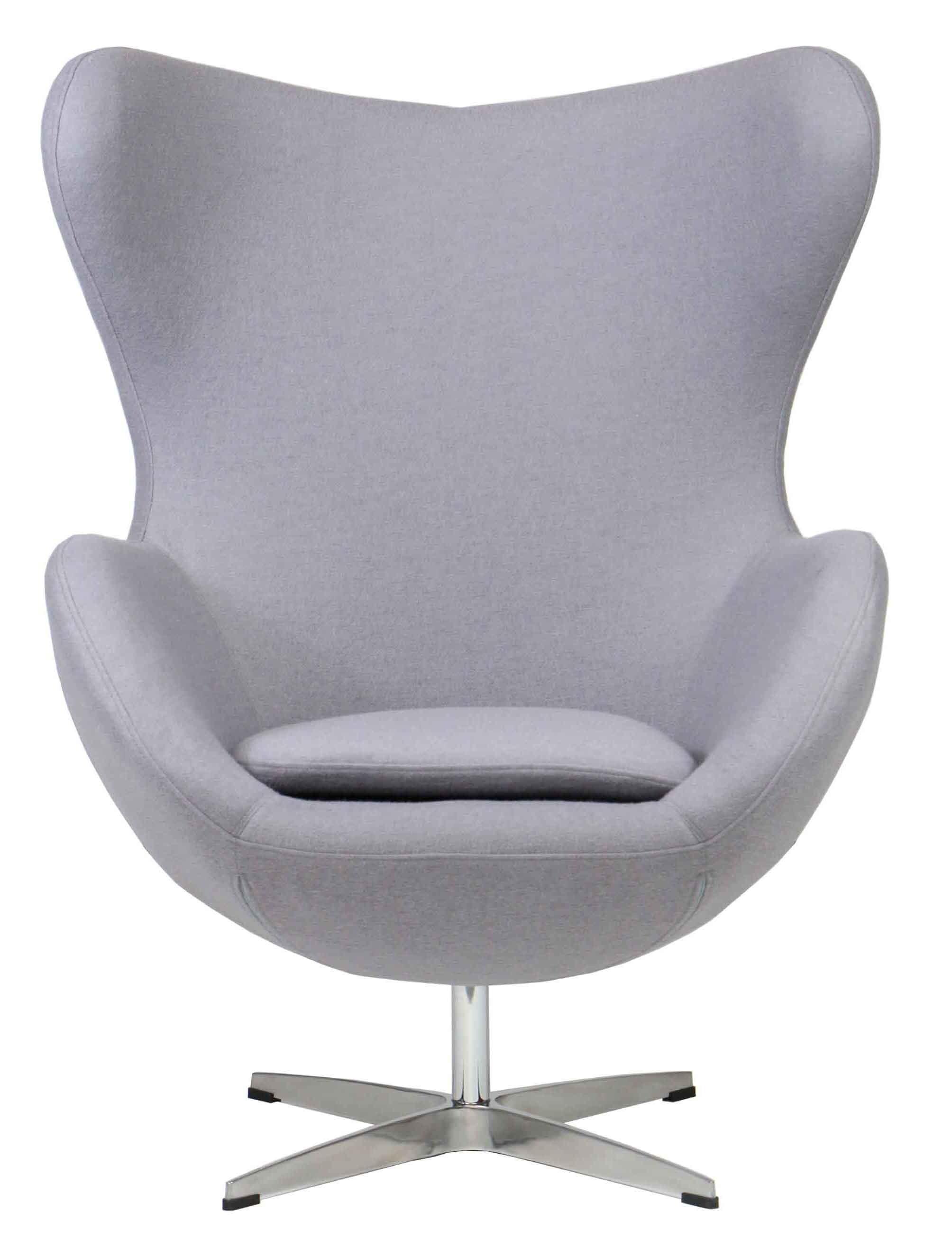 Designer Replica Egg Chair In Light Grey Furniture Home Décor