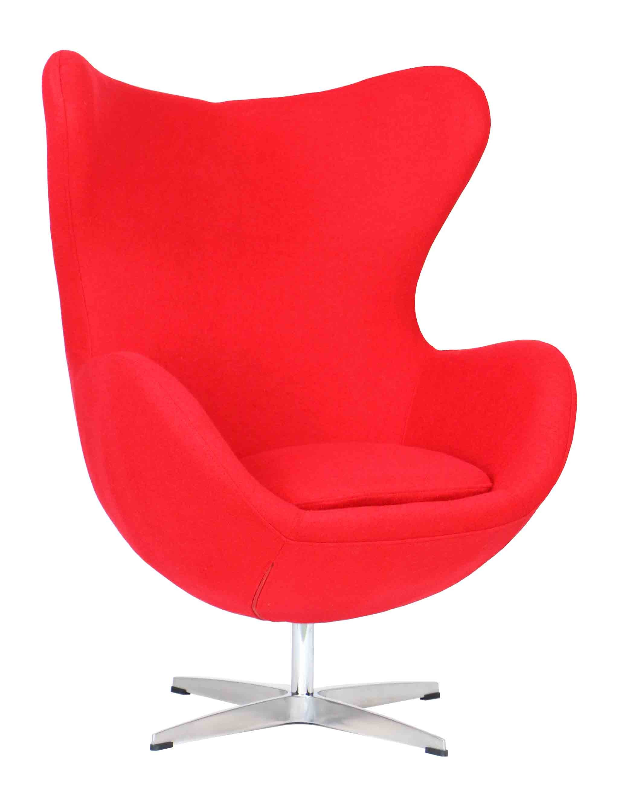 Designer replica egg chair in red furniture home d cor for Imitation designer chairs