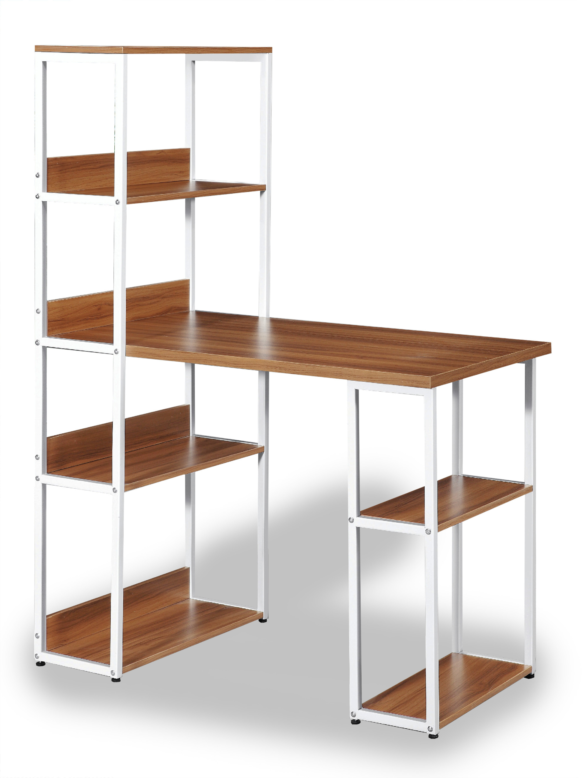 Remarkable Owain Study Table With Storage Shelves Interior Design Ideas Tzicisoteloinfo