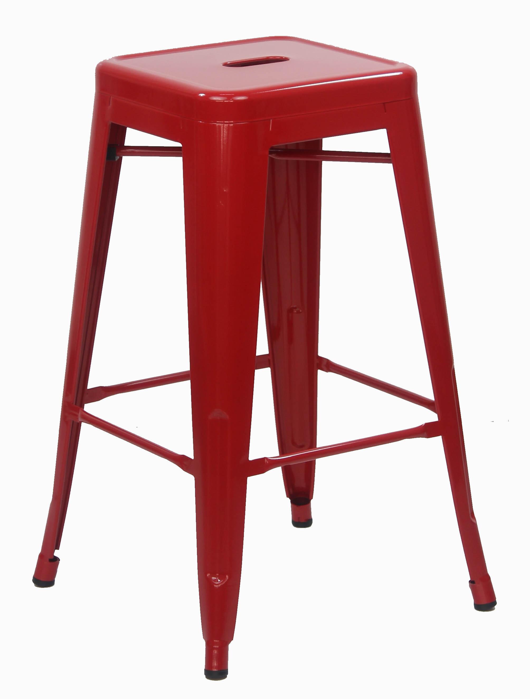 Retro Metal Medium Stool Red Chairs Seating Furniture Living Room Furniture Furniture