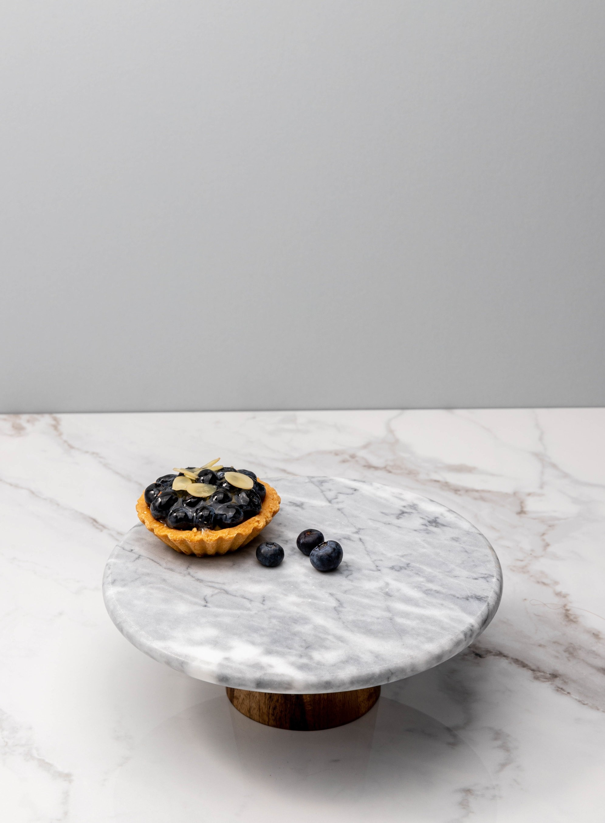 Rynna Marble Cake Stand Grey Wood Furniture Home Decor Fortytwo