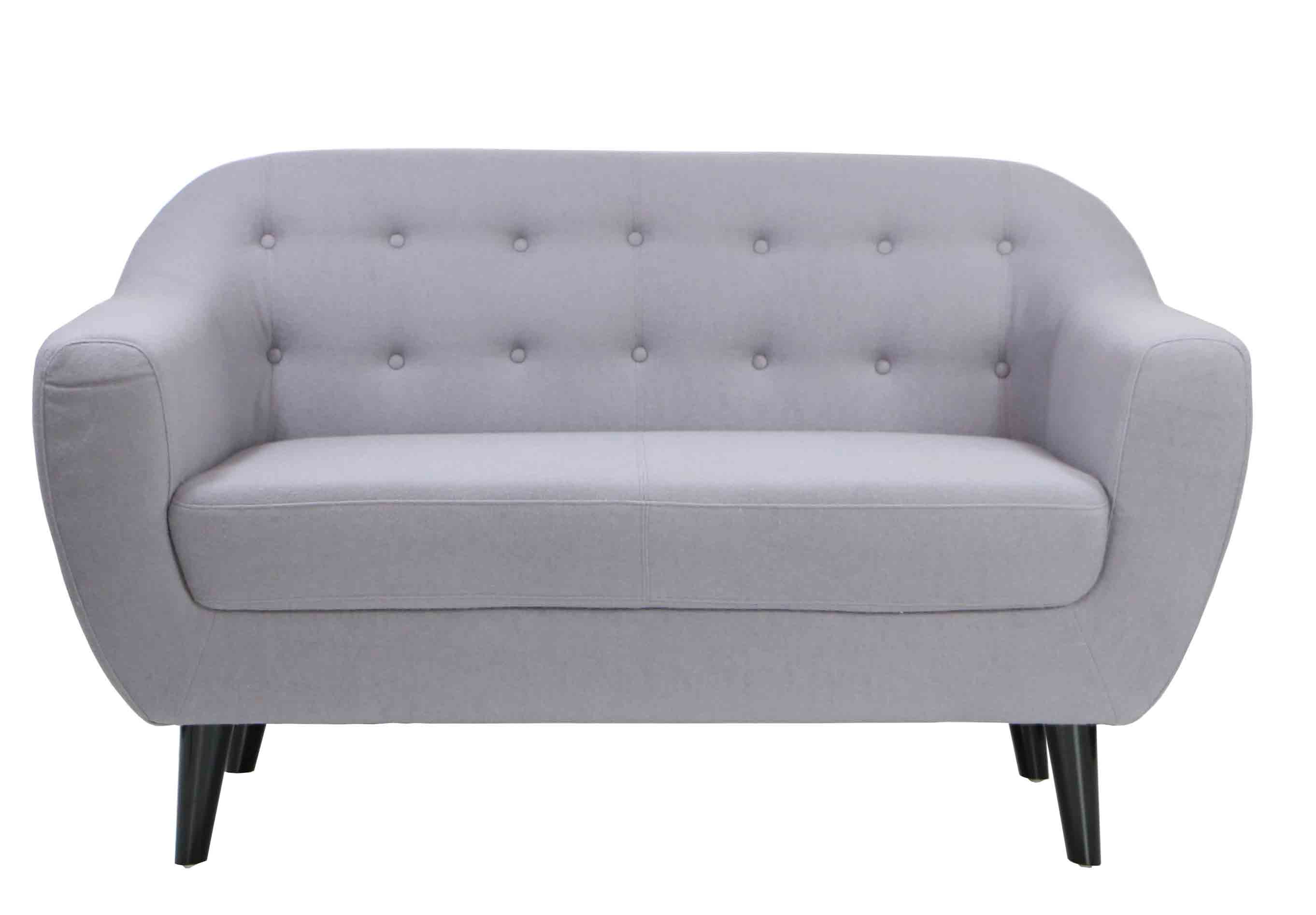 Replica kraesten designer sofa in light grey for Design sofa replica