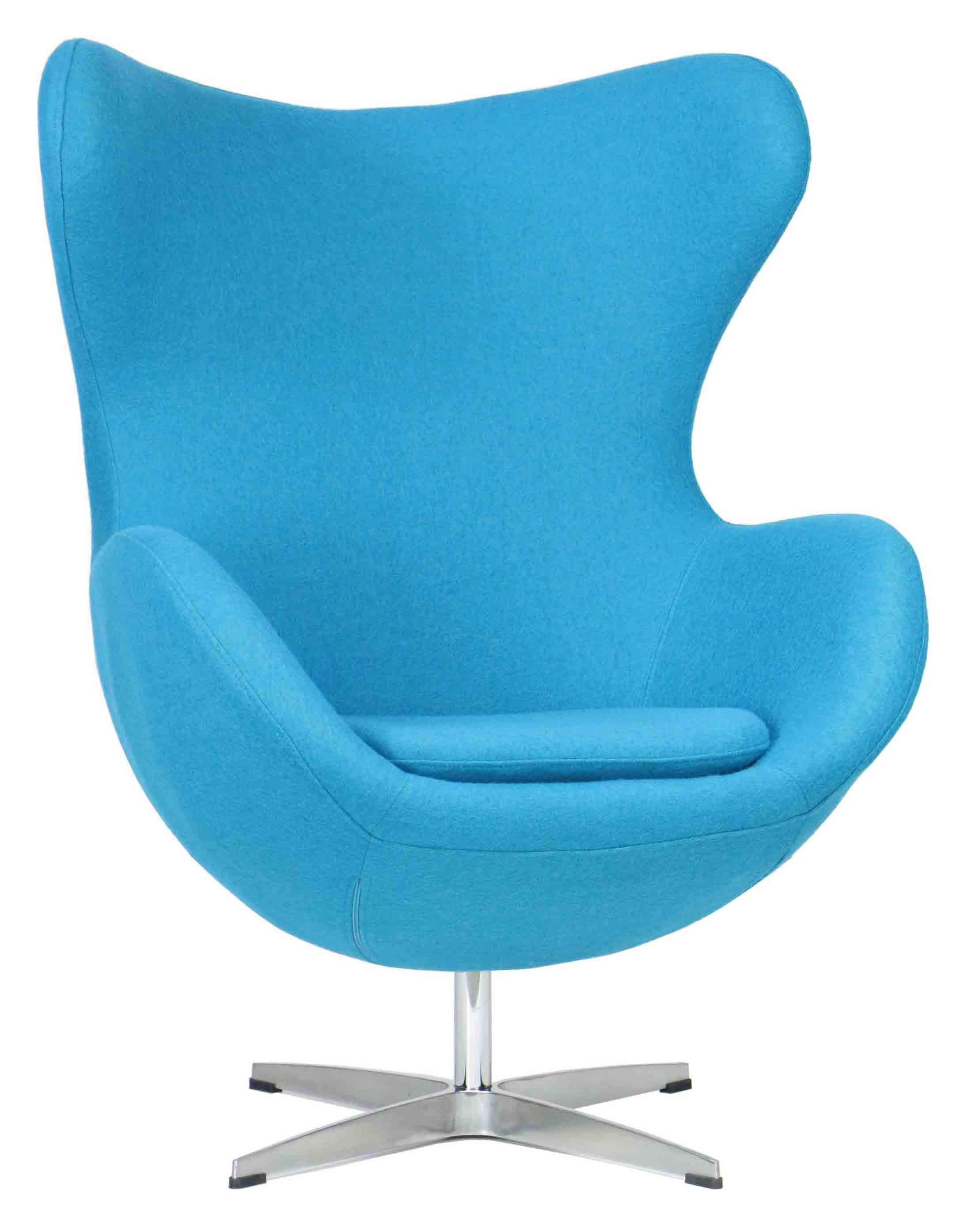 designer replica egg chair in blue furniture home d cor fortytwo. Black Bedroom Furniture Sets. Home Design Ideas