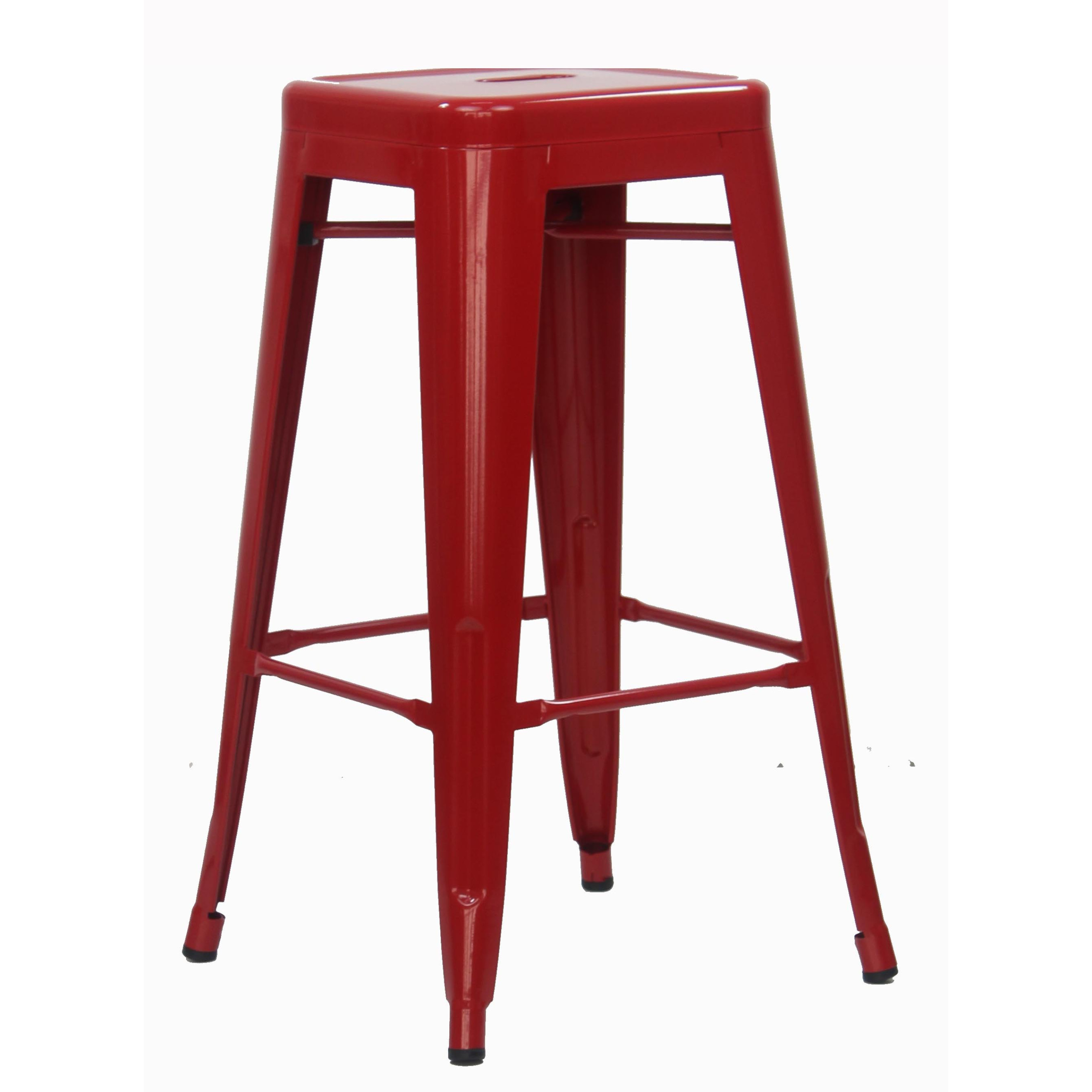 Retro Metal High Stool Red Bar Stools Living Room Furniture Furniture Home D Cor Fortytwo