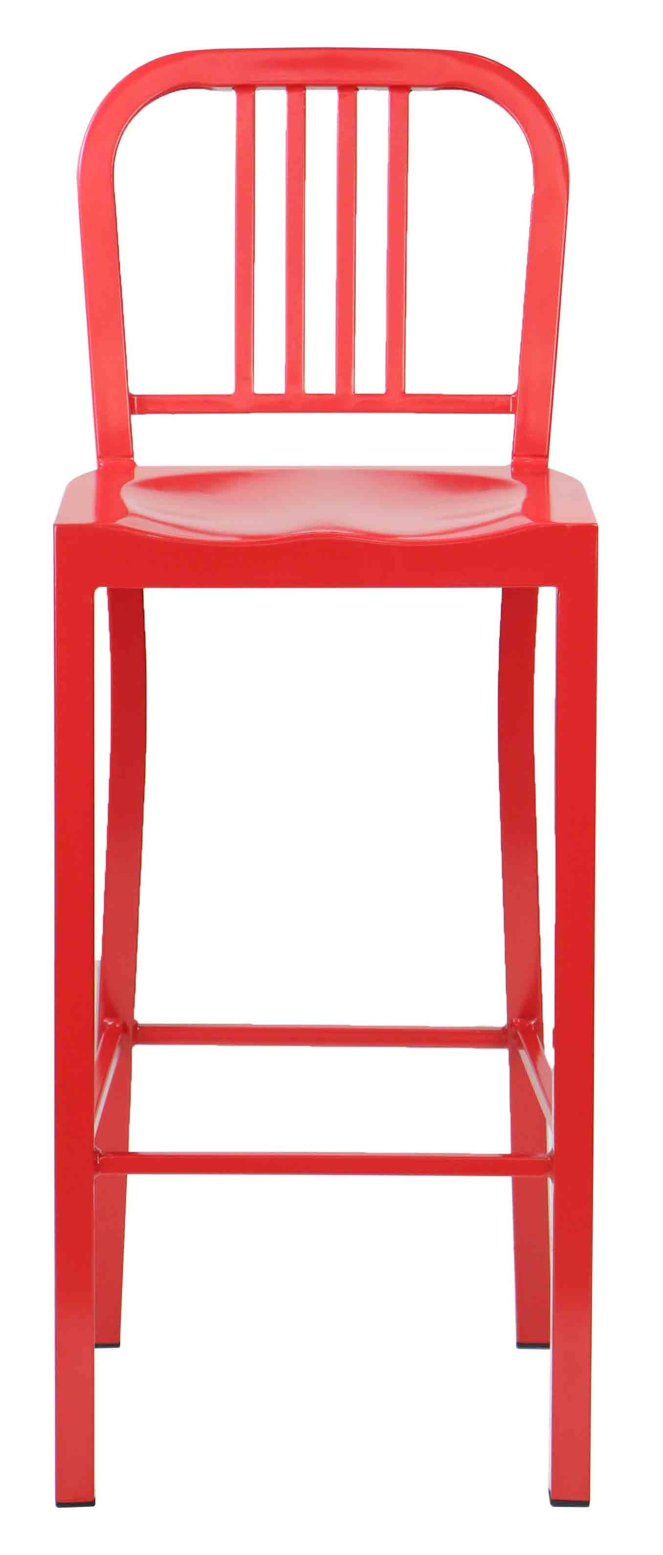 Navy Metal High Bar Stool Red Furniture Amp Home D 233 Cor
