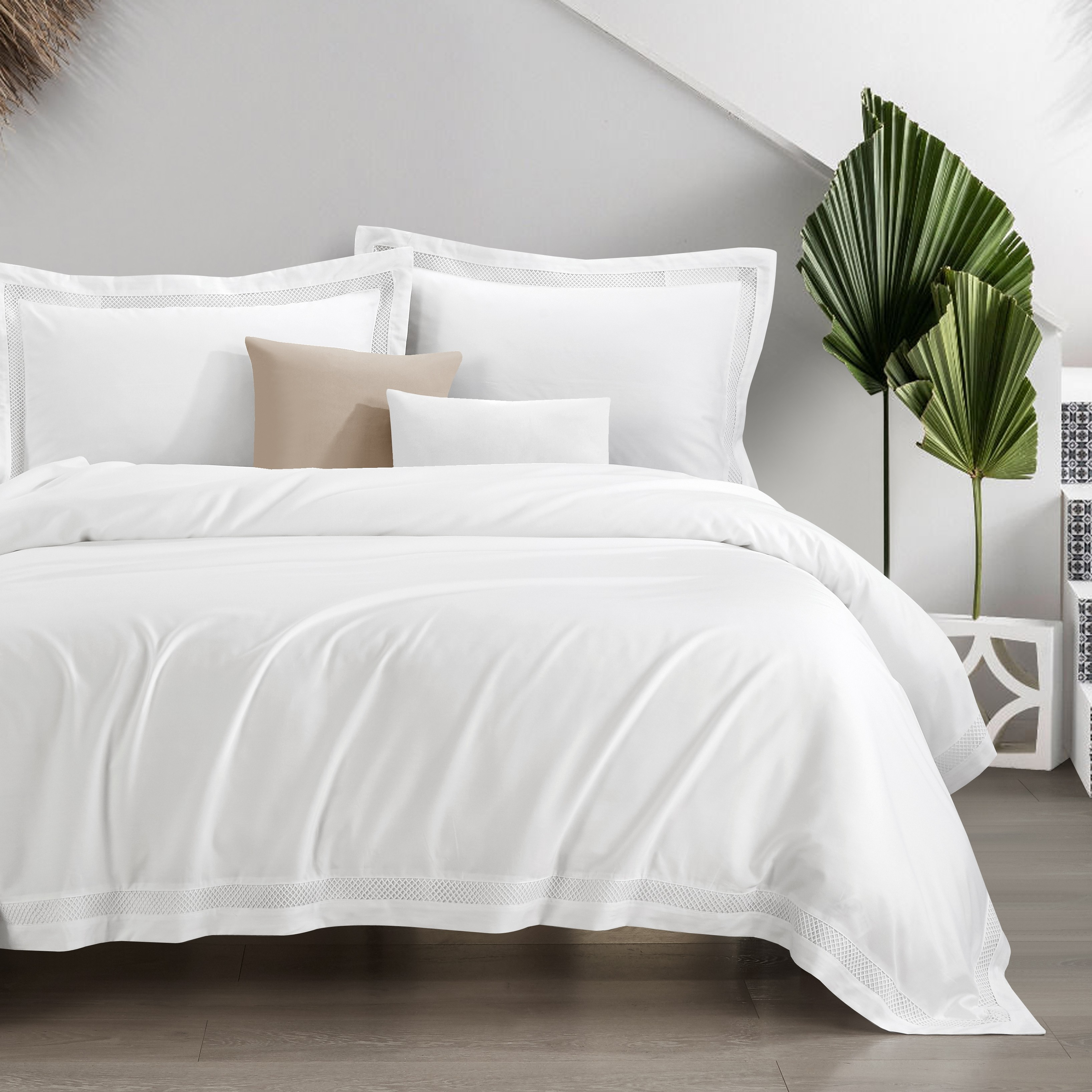 Fynelinen Egyptian Cotton 950tc Hotel Collection Euphoria Bed Set White Furniture Home Decor Fortytwo