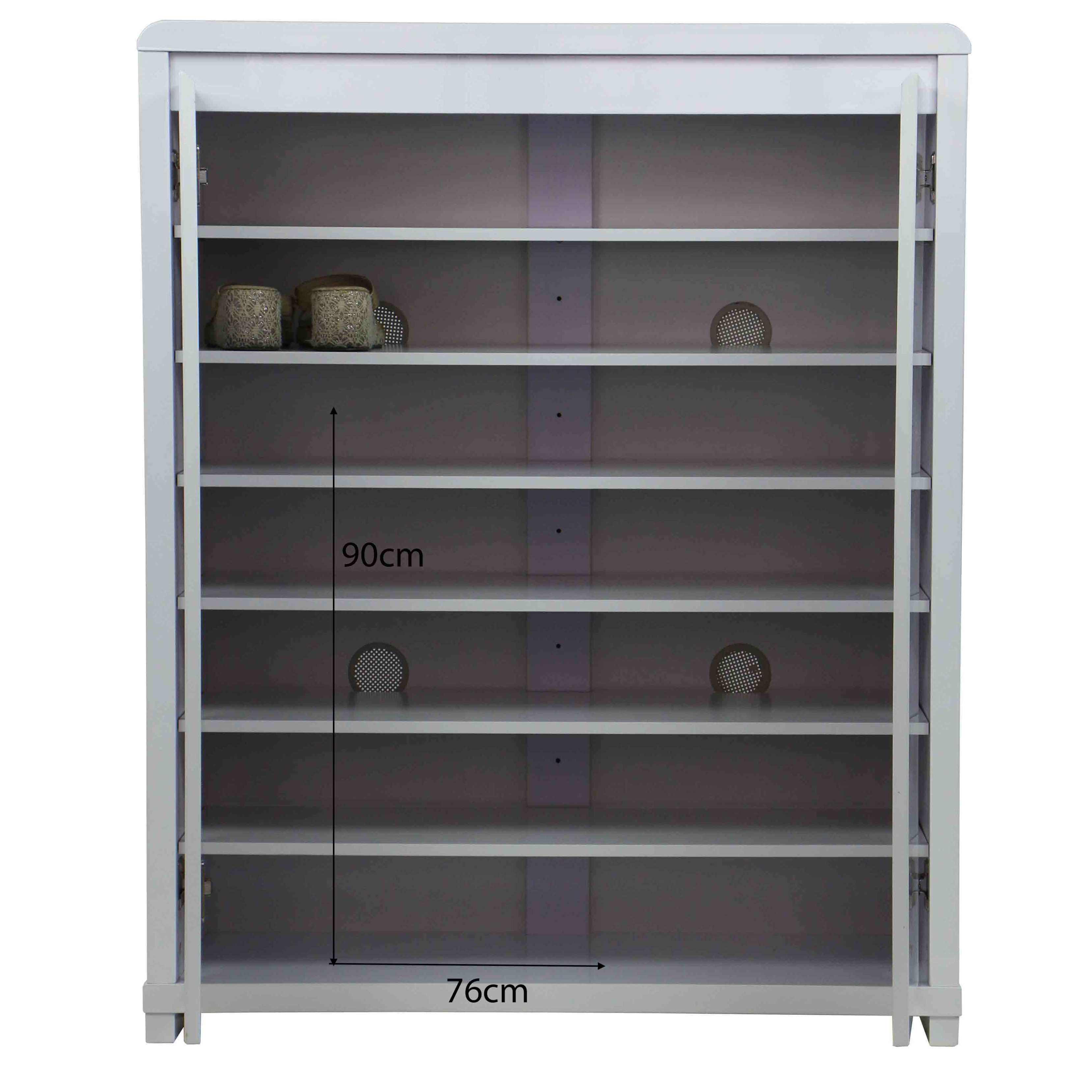 Prudence 2 Doors Shoe Cabinet White Furniture Home