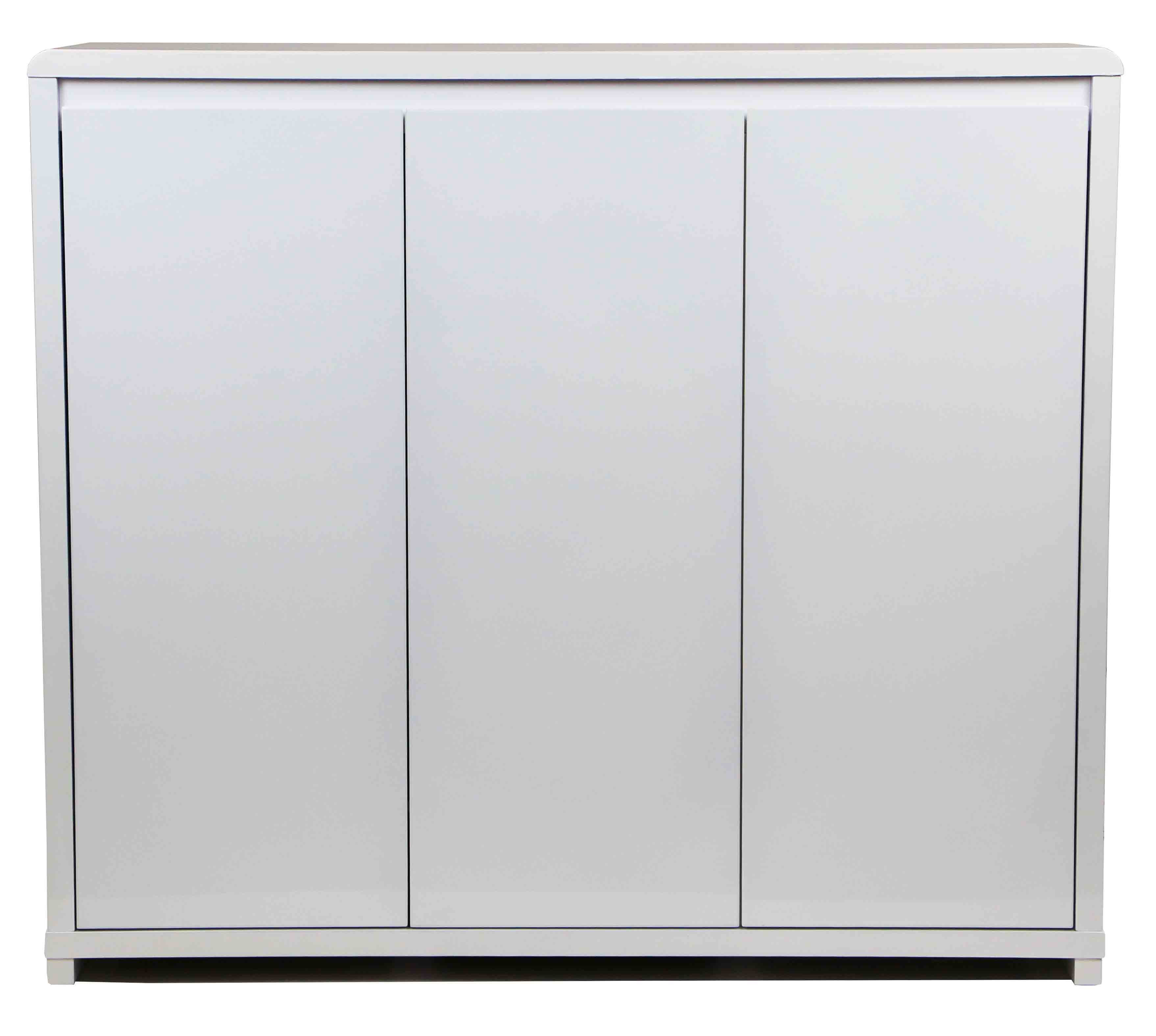 Prudence 3 Door Shoe Cabinet White Furniture Home Décor Fortytwo