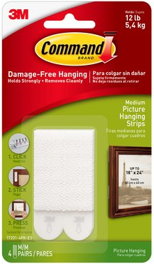 3m Command 17201 Medium Picture Hanging Strips Furniture Home