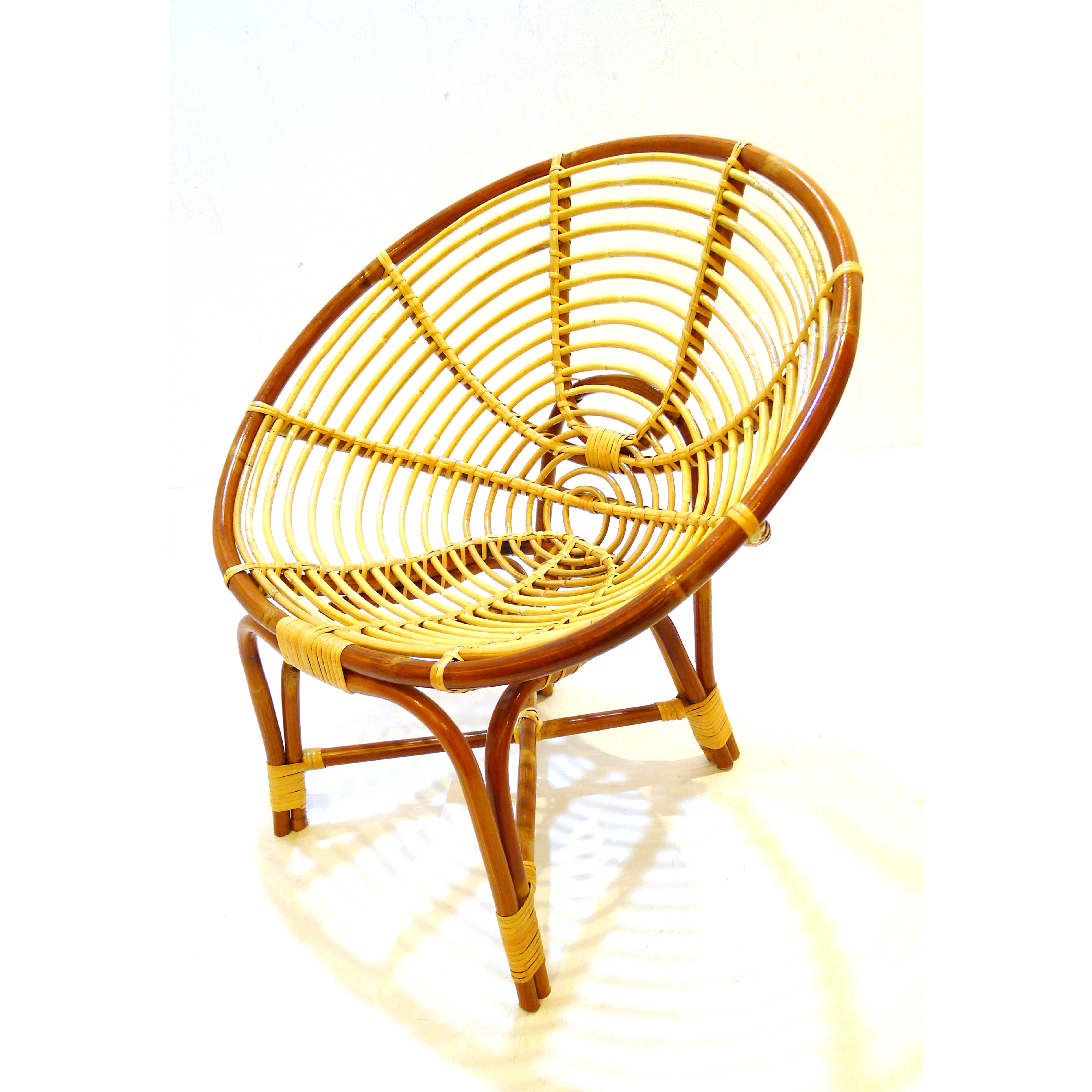 Medium Spiral Brown Rattan Chair | Furniture & Home Décor ...