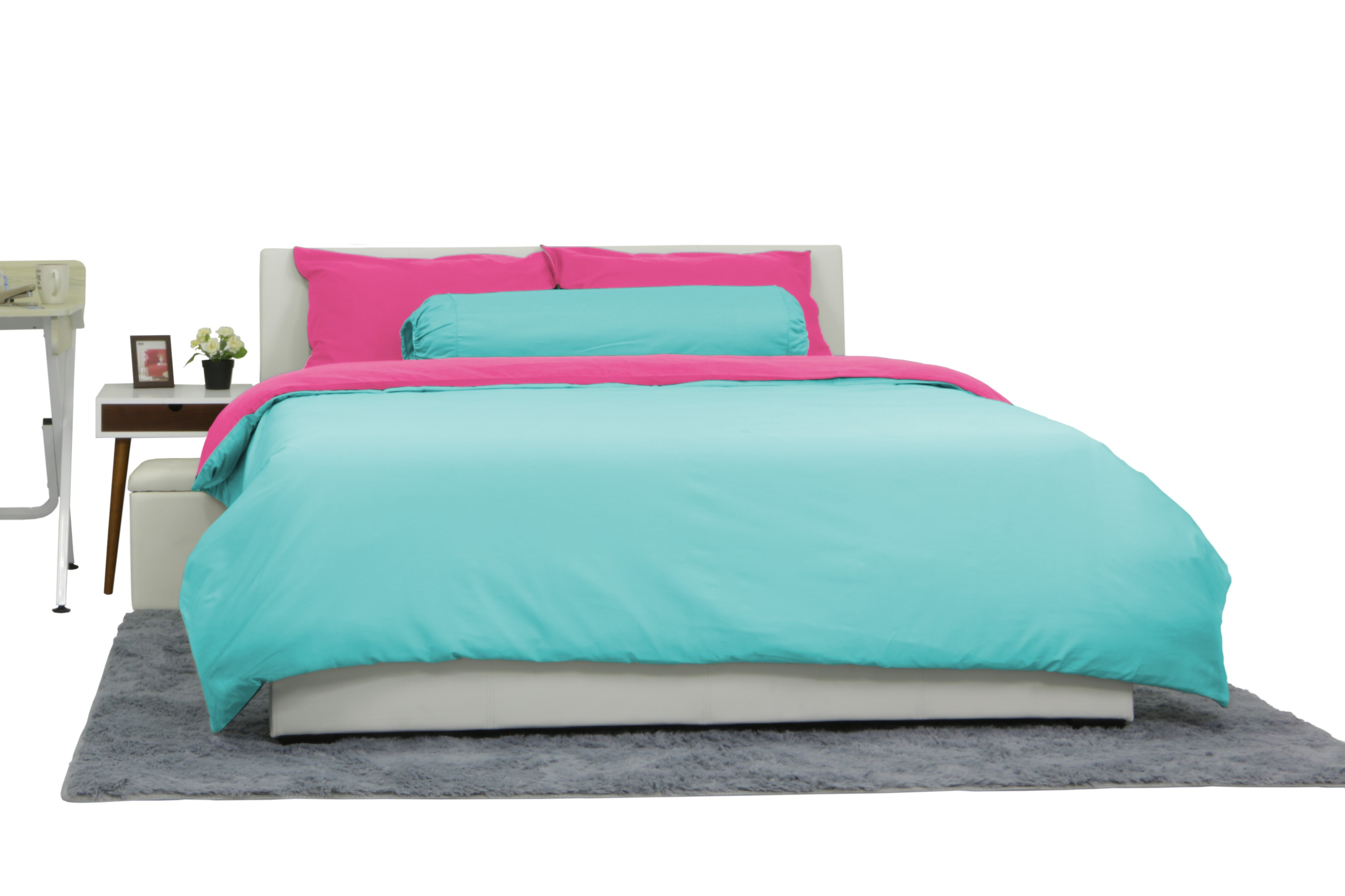 916438776 Every Thread Count Absol Quilt Cover Set Reversible Fuchsia Mint ...