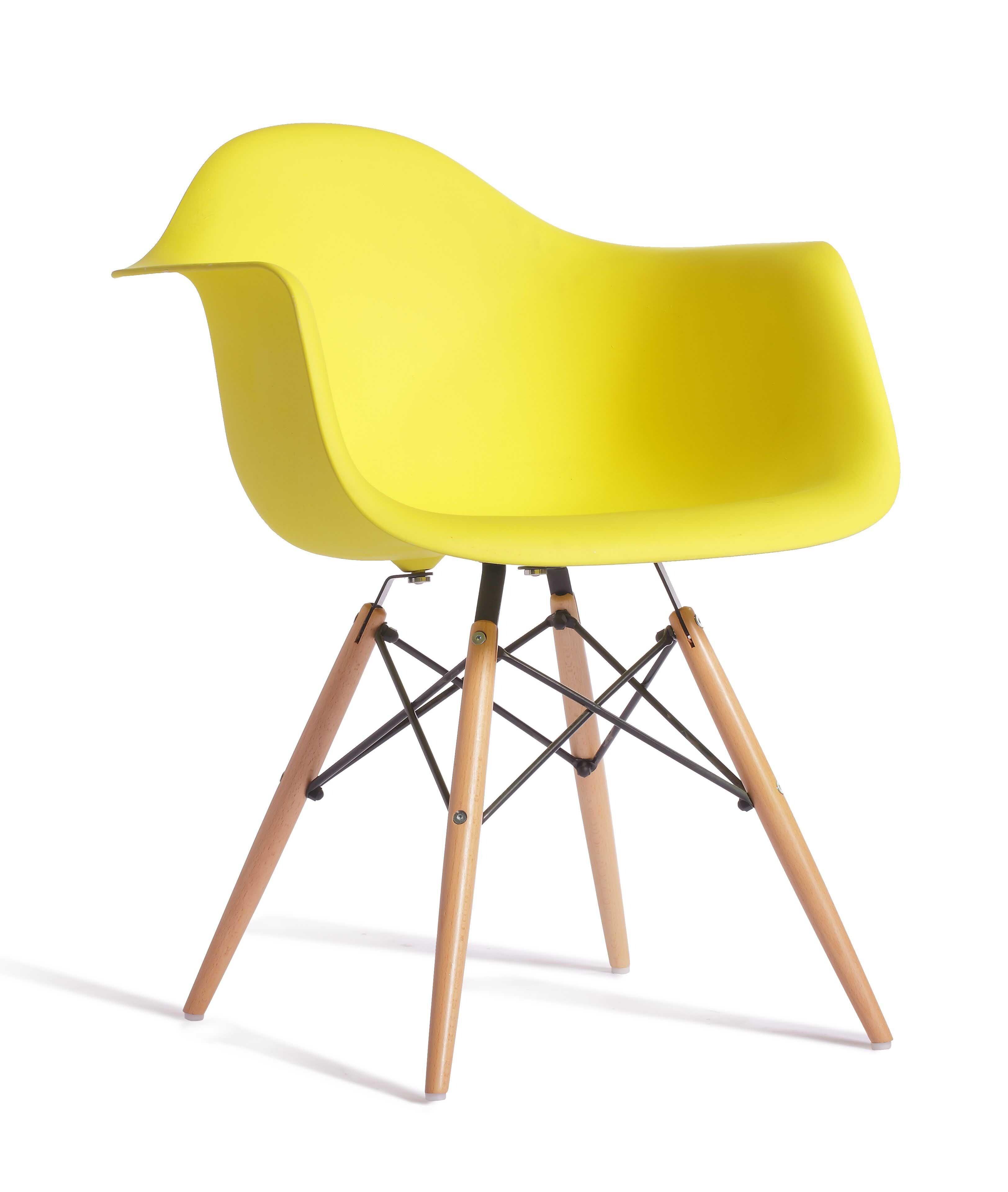 Eames replica designer arm chair yellow furniture for Replica designer furniture usa