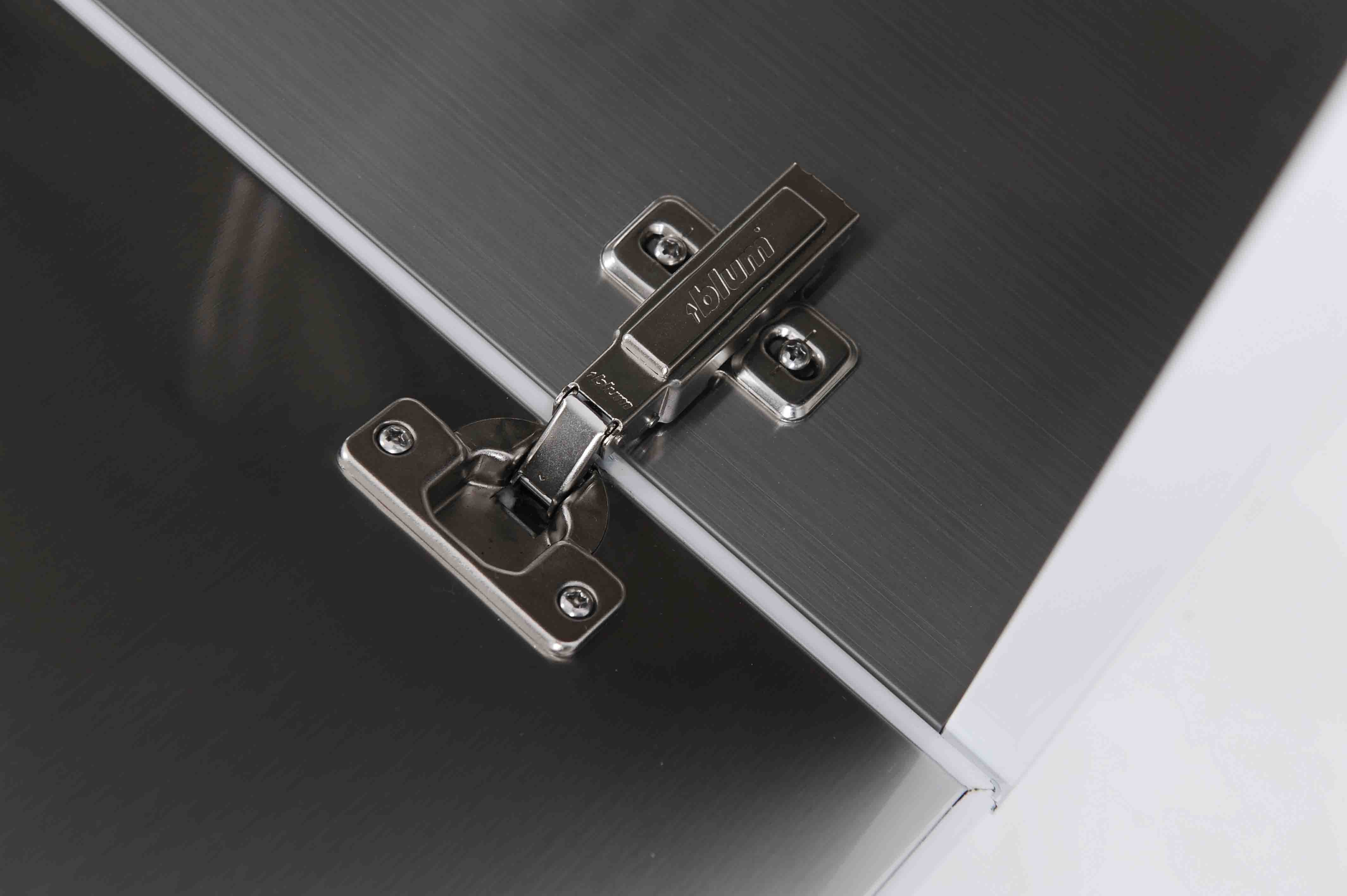 Rubine 60cm stainless steel bathroom cabinet rbf 1164d1 for Bathroom cabinets 60cm