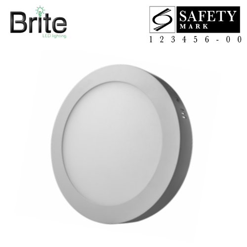 size 40 d55c2 60581 BRITE LED Surface Mounted Ceiling/Panel Round Light (Daylight) 12W