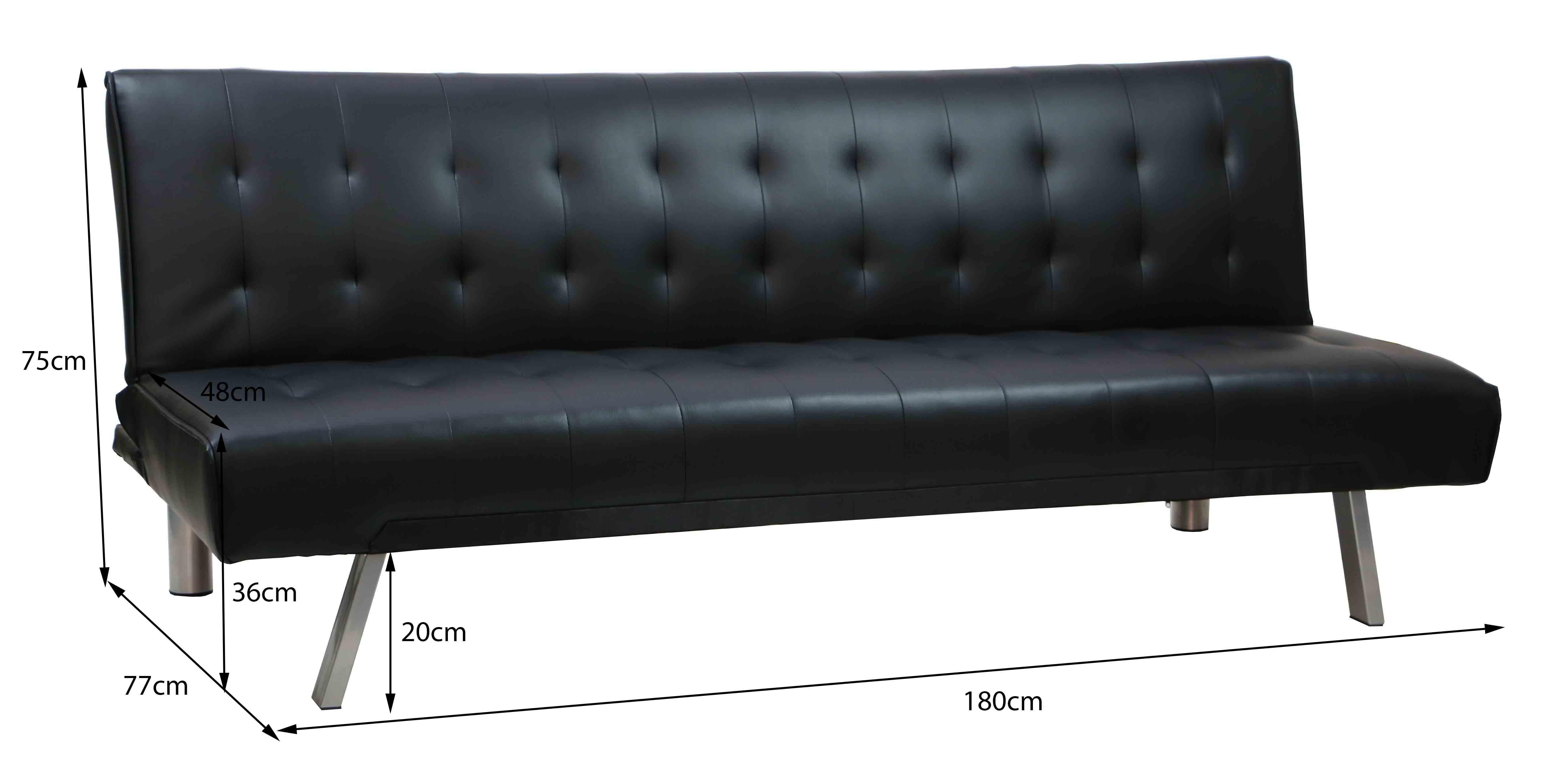 Andrea Sofa Bed Black Furniture & Home Décor