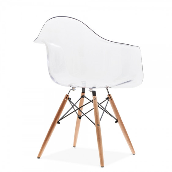 Eames Replica Designer Arm Chair Clear Furniture Home D Cor FortyTwo