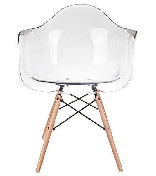 Eames Replica Designer Arm Chair (Clear)