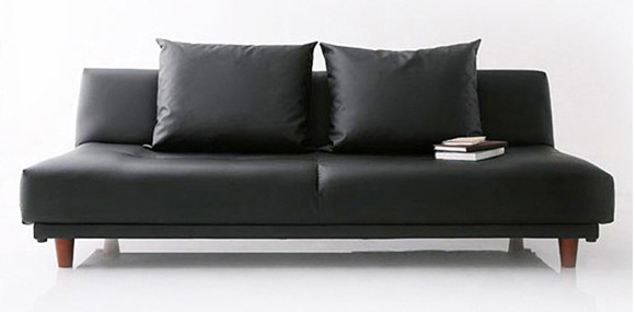 Sweden Sofa Bed Pvc Black