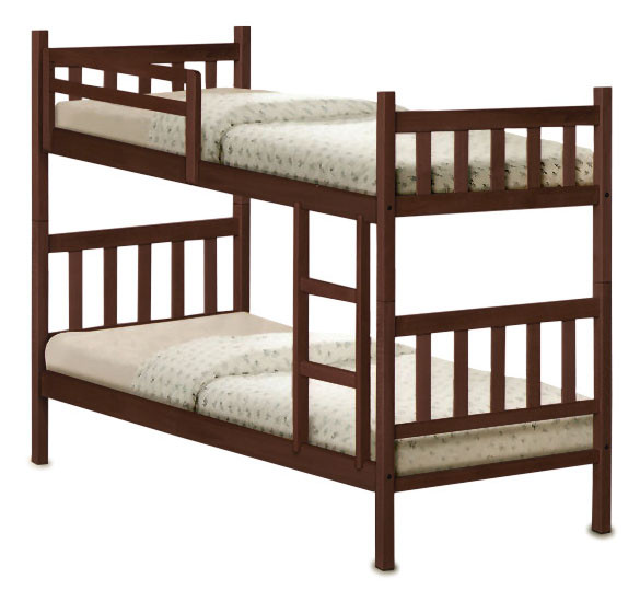 Denot double deck wooden bed frame furniture home for Double deck bed images