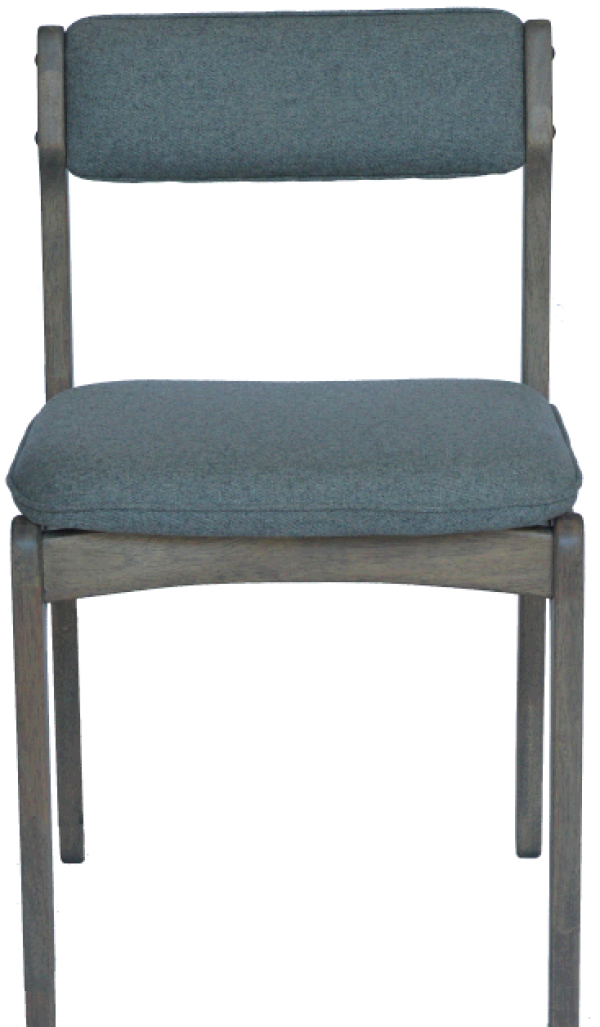 Philos Plank Dining Chair in 100 Grey Wool NEW  : ac1410 f grey from www.fortytwo.sg size 600 x 1027 png 405kB