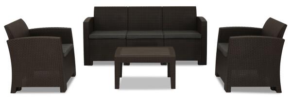Nina 5 seater outdoor sofa set brown furniture home - Sofas para ninas ...
