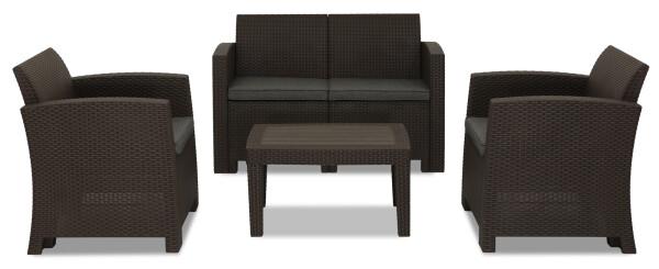 Nina 4 seater outdoor sofa set brown furniture home - Sofas para ninas ...