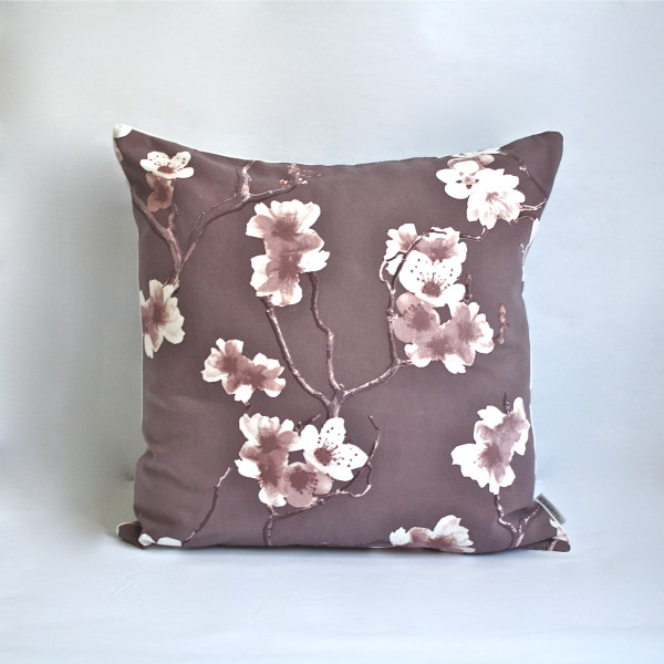Sakura Eggplant Pillow 1