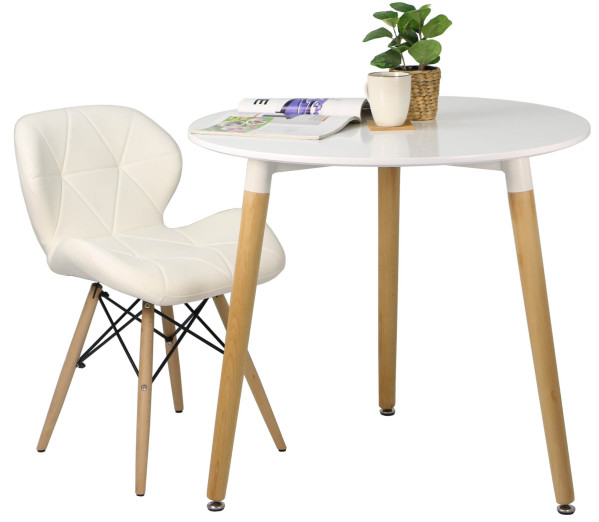 Ryder round table white furniture home d cor fortytwo for Table quiz rounds