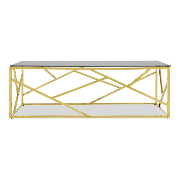 Opal Coffee Table II with Gold Legs