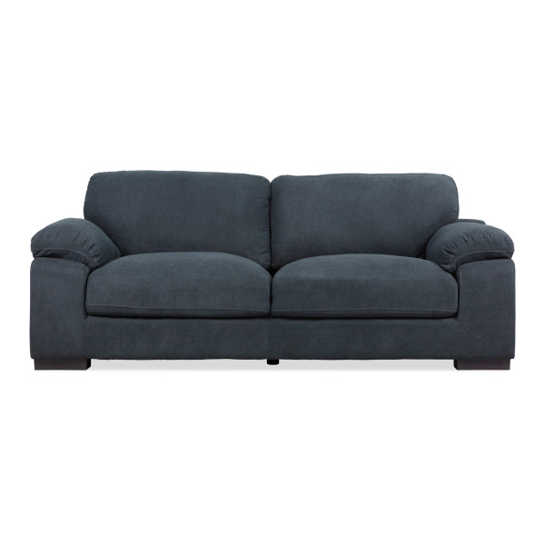 Elvina 3-Seater Sofa (Dark Grey)