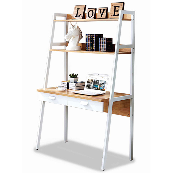 Parry Study Table with Top Shelves