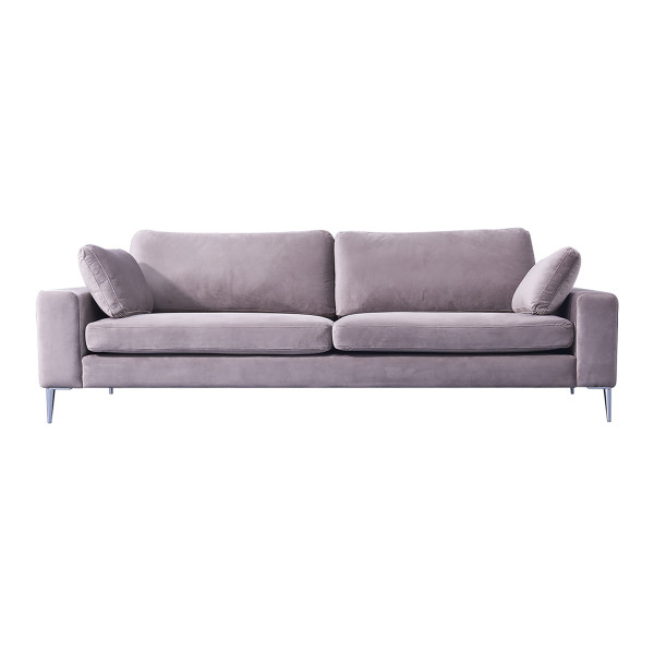 Asher 3-Seater Sofa (Dusty Pink)
