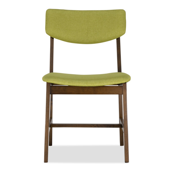 Steenie Dining Chair Walnut with Green Cushion
