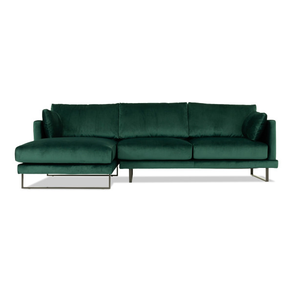 Bernicia 3 Seater L Shape-Rest Section on RIGHT Side when Seated (Emerald)