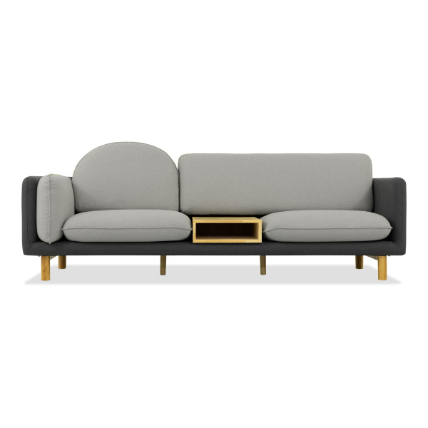 Ingrid 3 Seater Sofa in Grey