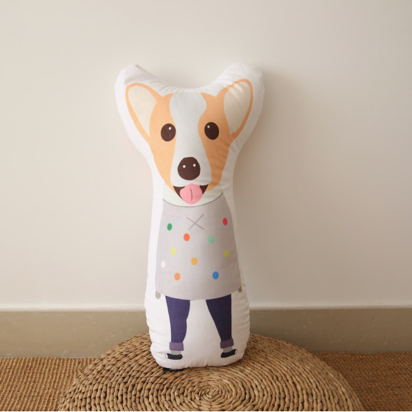 Kids Corgi Dog Cushion