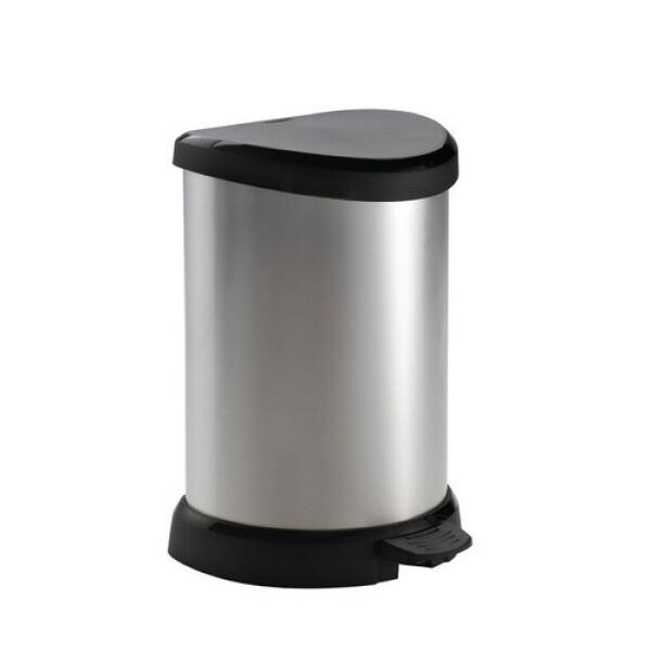 Curver Deco Bin Pedal Metallic 20L