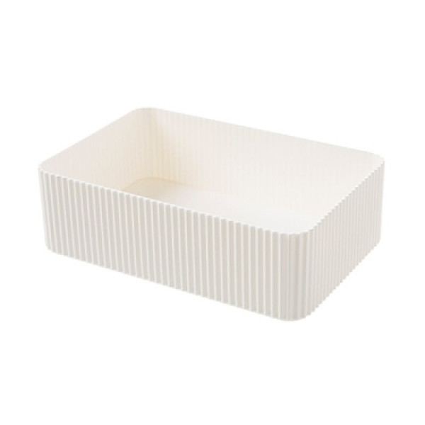 Naomi Adjustable Stackable White Storage Organizer (M)