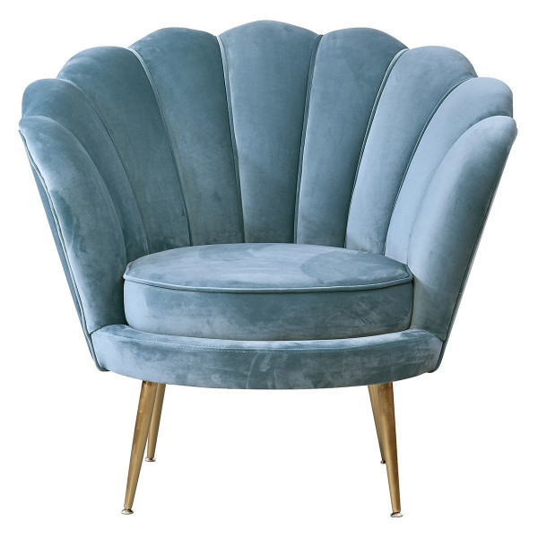 Ariel Scallop Armchair (Magic Blue)