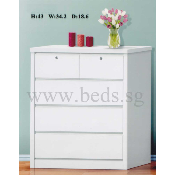 Coast Chest of Drawer White