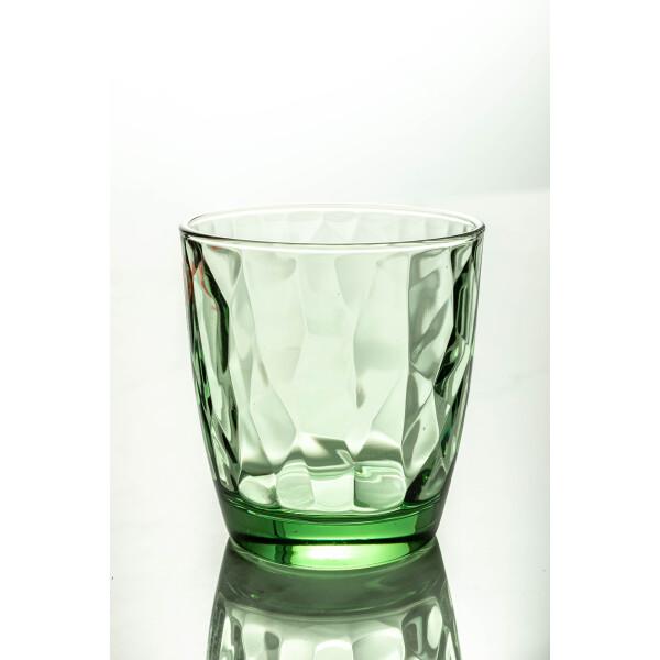Diamond Water Glass 300ml (Forest Green)