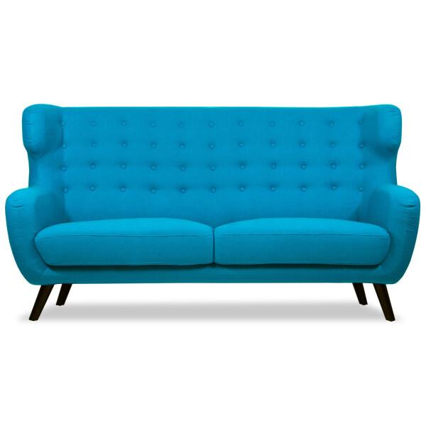 Replica WingBack Designer 3 Seater Sofa (Aqua)