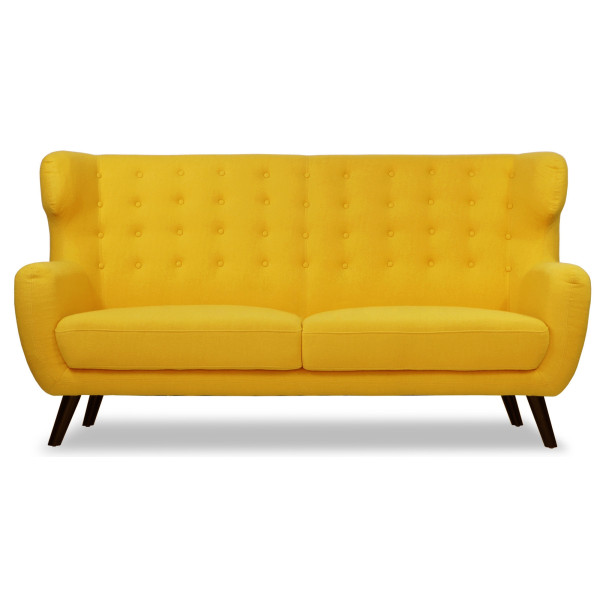Replica WingBack Designer 3 Seater Sofa (Yellow)